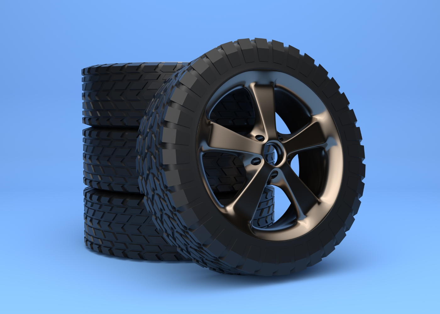 jantes e pneus de carro