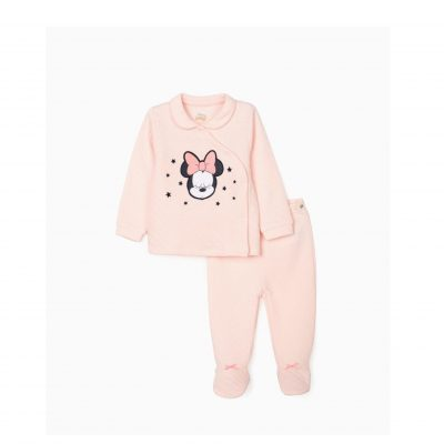 Pijama com estampado da Minnie para bebés