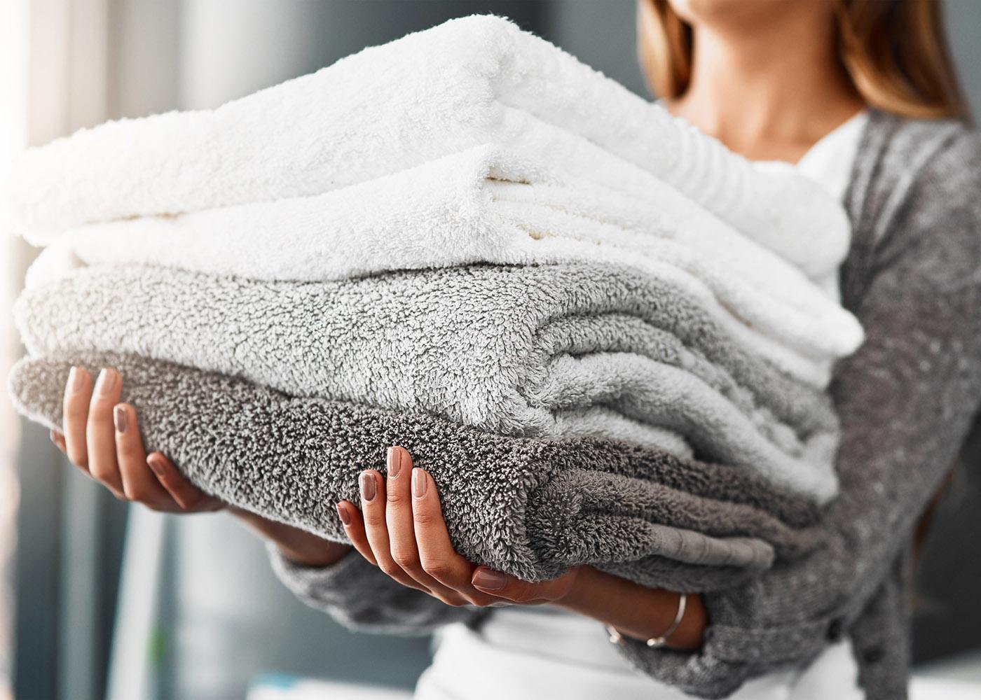 toalhas lavadas