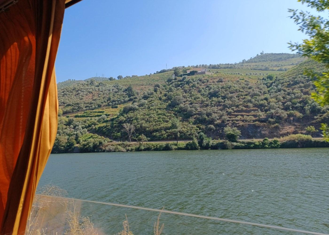 vista de comboio para o Douro