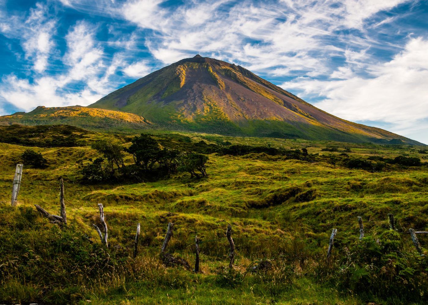 Ilha do Pico nos Açores