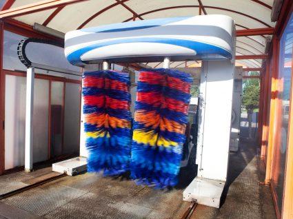 Lavagem automática com rolos